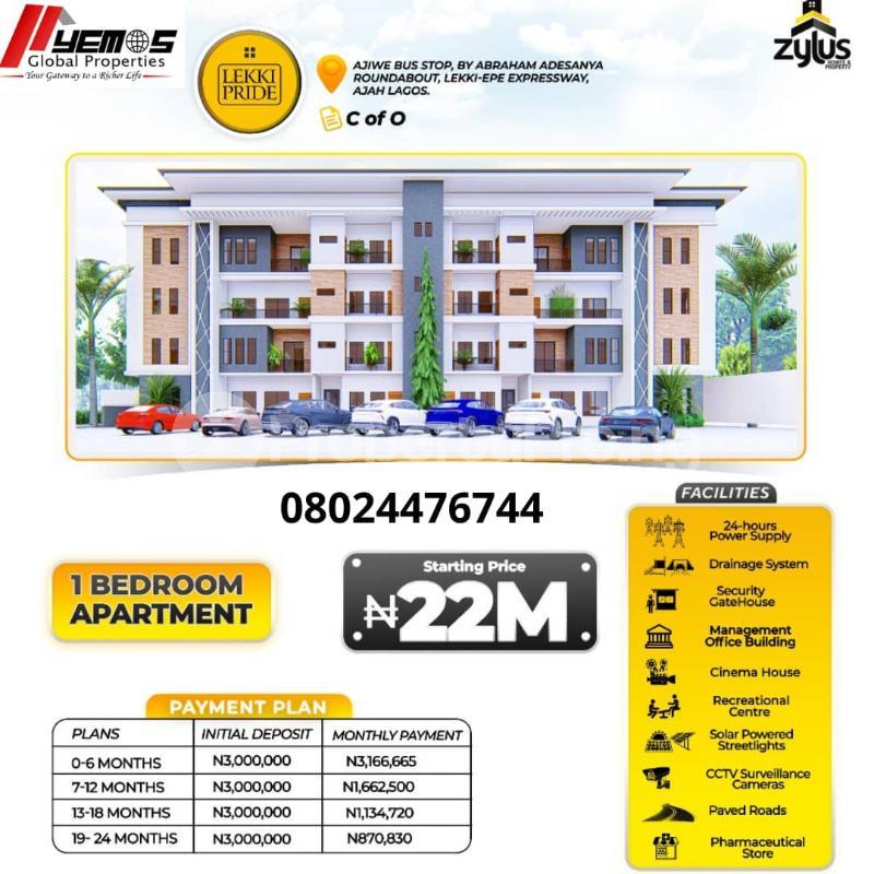 1 bedroom mini flat  Flat / Apartment for sale Abraham adesanya estate Ajah Lagos - 0
