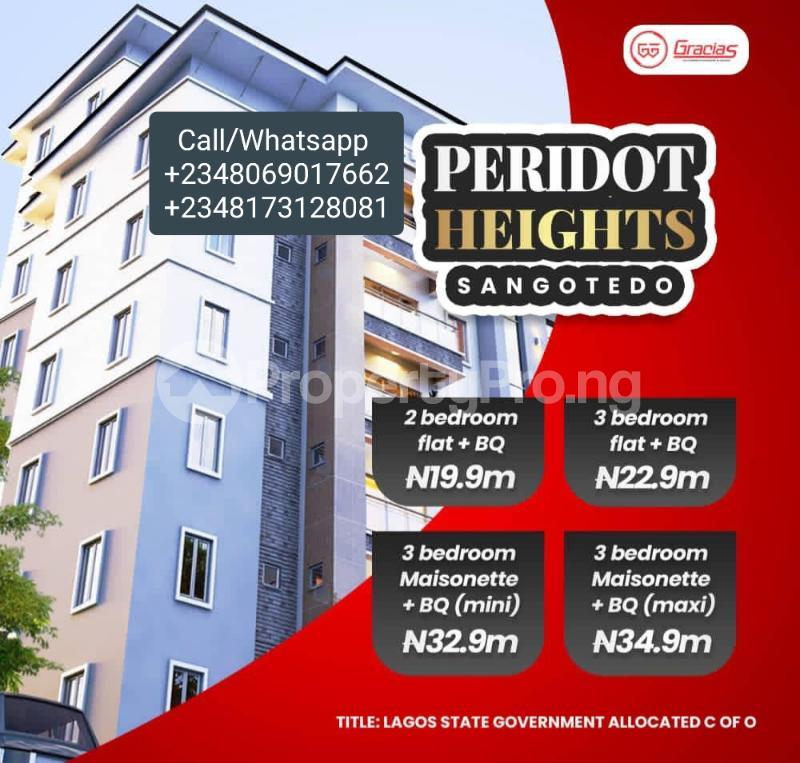 3 bedroom Massionette for sale Period Height By Gracia Opposite Novare Shoprite Sangotedo Sangotedo Ajah Lagos - 1