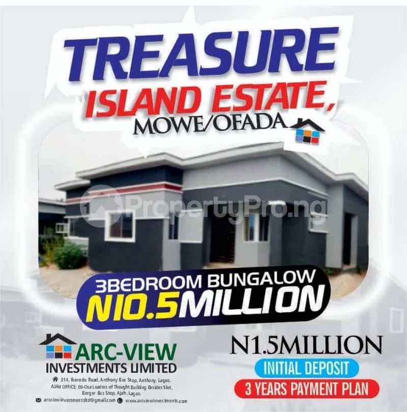 3 bedroom Detached Bungalow for sale Orilemo Mowe Ofada Ofada Obafemi Owode Ogun - 0