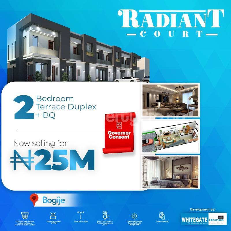 2 bedroom Terraced Duplex House for sale Desa in Bogije, 20 seconds Drive from Lekki Epe Express Bogije Sangotedo Lagos - 0