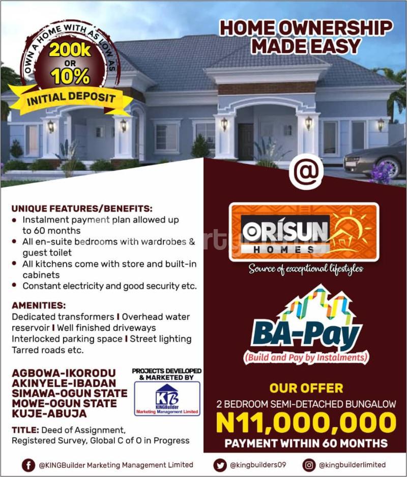 2 bedroom Blocks of Flats House for sale Orisun Estate Akinyele, Onidundu Akinyele Oyo - 2