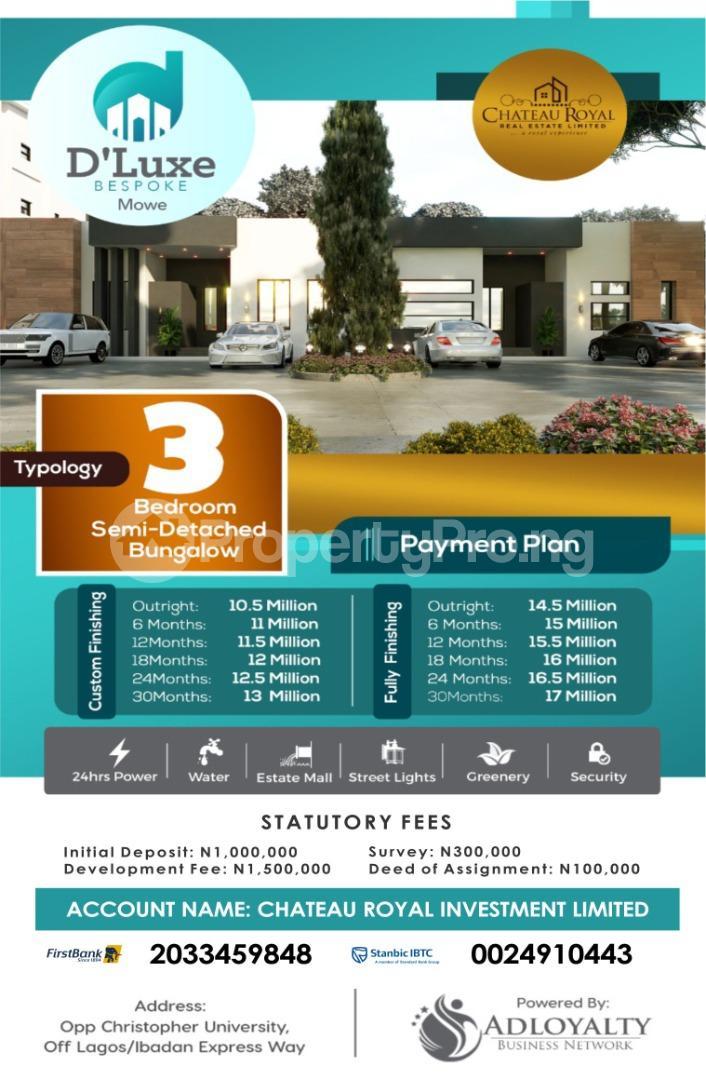 3 bedroom Semi Detached Bungalow for sale Mowe Obafemi Owode Ogun - 0