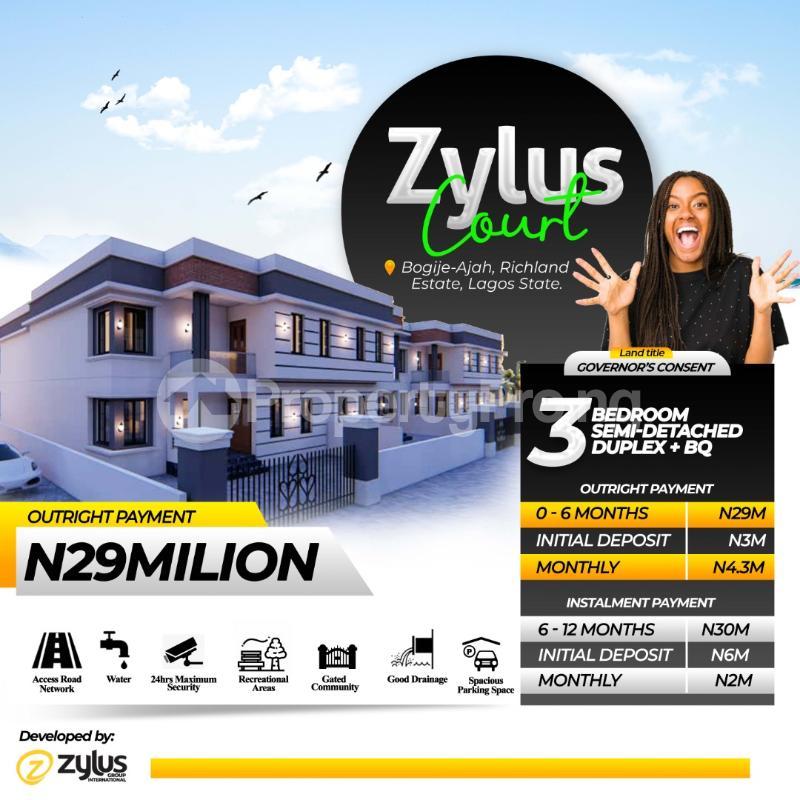 4 bedroom Semi Detached Duplex House for sale Inside a fully Resident Estate Bogije Sangotedo Lagos - 0