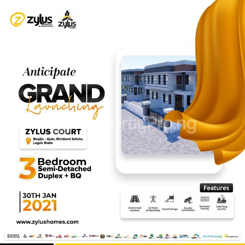 4 bedroom Semi Detached Duplex House for sale Inside a fully Resident Estate Bogije Sangotedo Lagos - 3