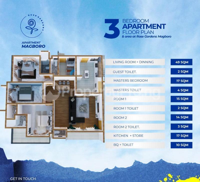 3 bedroom Mini flat Flat / Apartment for sale Magboro Obafemi Owode Ogun - 1