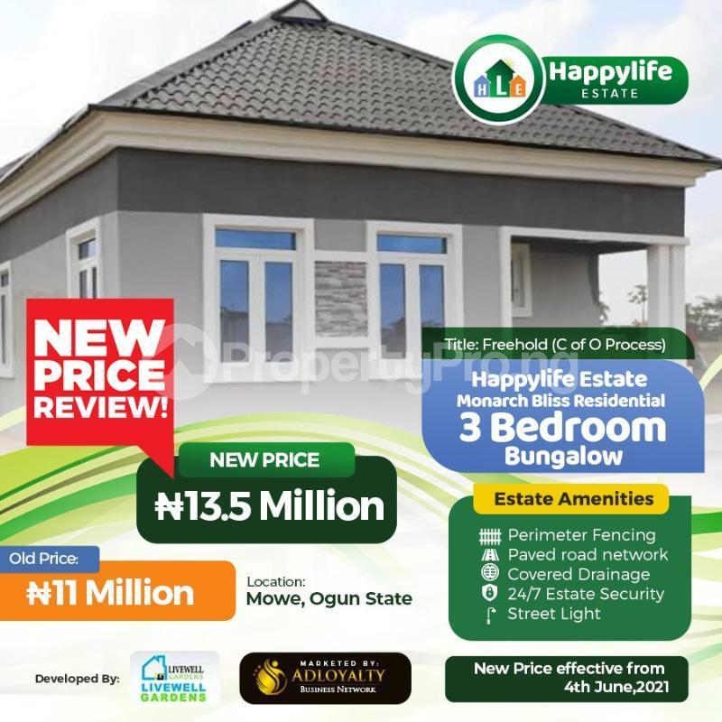 3 bedroom Detached Bungalow for sale Mowe Obafemi Owode Ogun - 4