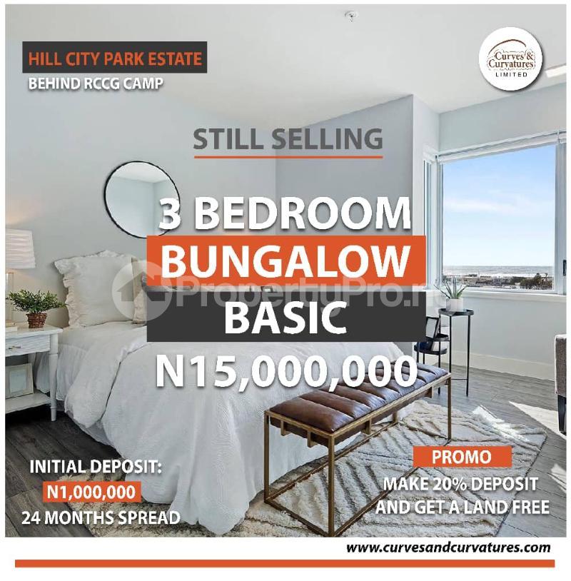 3 bedroom Detached Bungalow for sale Off Shimawa Road After Rccg New Auditorium Mowe Obafemi Owode Ogun - 0