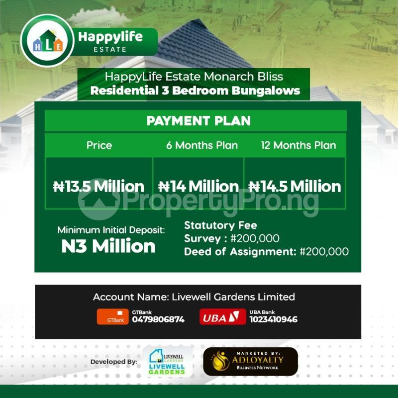 3 bedroom Detached Bungalow for sale Beside Rccg Youth Church), Few Minutes Off Lagos Ibadan Expressway Mowe Obafemi Owode Ogun - 5