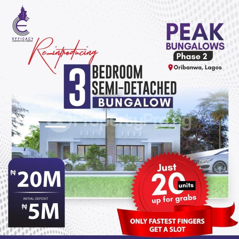 3 bedroom Semi Detached Bungalow for sale Peak Bungalows Awoyaya Ajah Lagos - 3