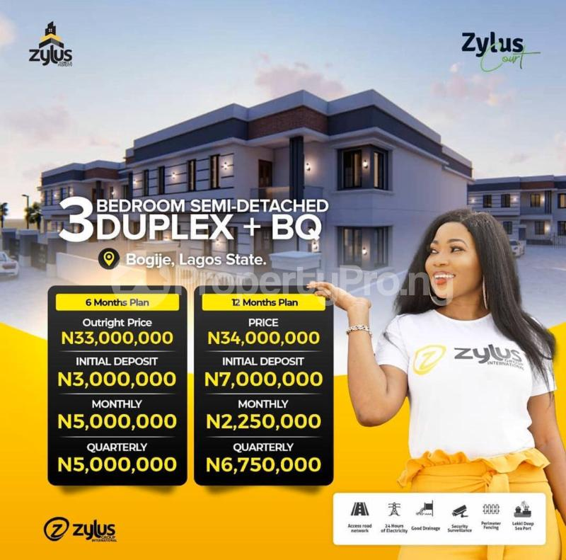 Semi Detached Duplex House for sale Bogije Sangotedo Lagos - 0