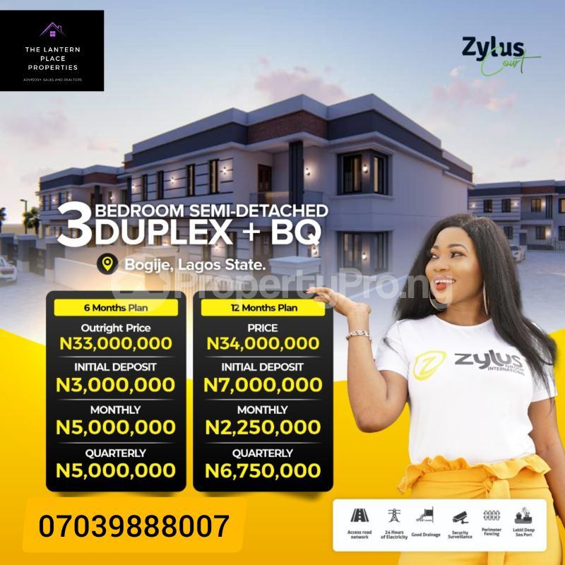 3 bedroom Semi Detached Duplex House for sale Bogije, Ibeju-Lekki Lakowe Ajah Lagos - 1