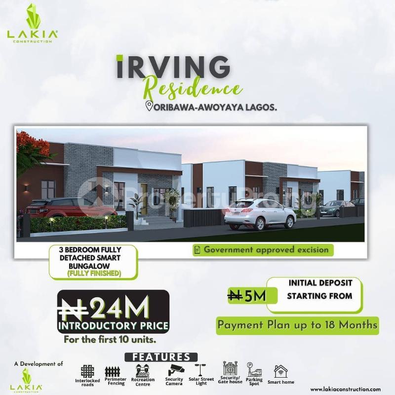 3 bedroom Detached Bungalow for sale Oribanwa Awoyaya Ajah Lagos - 0