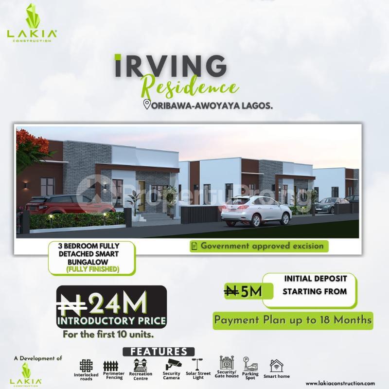 3 bedroom House for sale Oribanwa Bustop , 2min From Mayfair Gardens Awoyaya Ajah Lagos - 0
