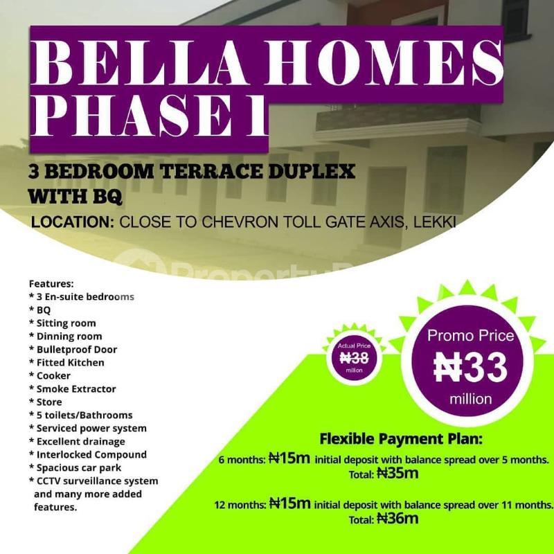 3 bedroom Terraced Duplex for sale Close To Chevron Toll Gate Lekki chevron Lekki Lagos - 0