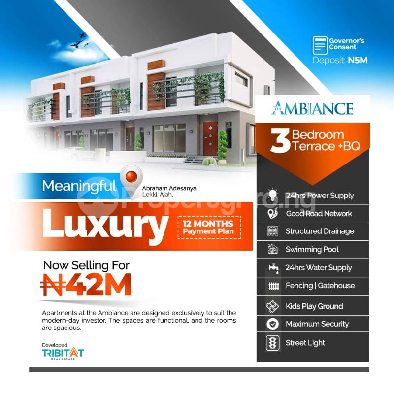 3 bedroom Terraced Duplex for sale Abraham Adesanya Abraham adesanya estate Ajah Lagos - 0