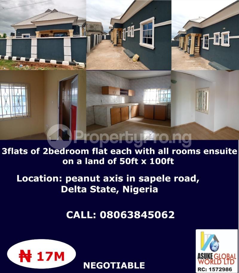 House for sale peanut axis along Sapele road Delta state Nigeria Sapele Delta - 0