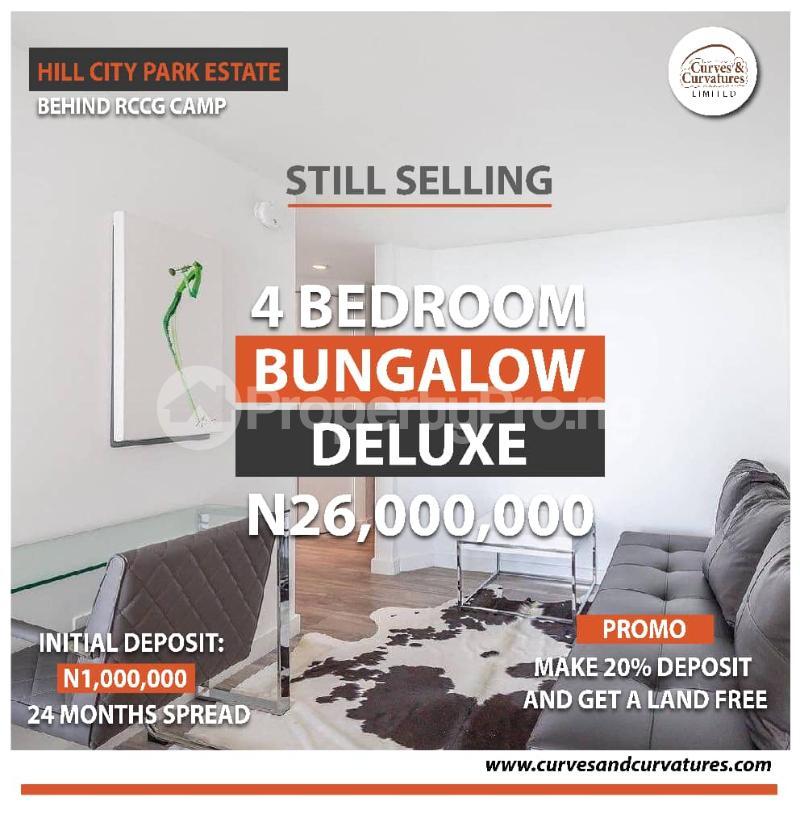 4 bedroom Detached Bungalow for sale Off Simawa Road After Rccg New Auditorium Mowe Obafemi Owode Ogun - 0
