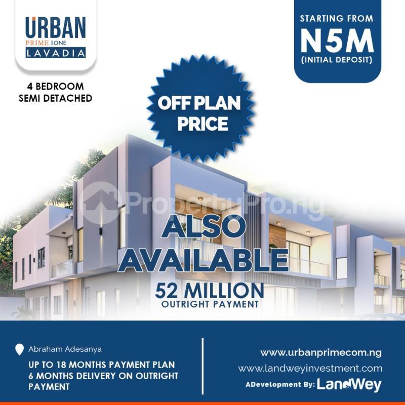 4 bedroom Shared Apartment for sale Abraham Adesanya Road Abraham adesanya estate Ajah Lagos - 0