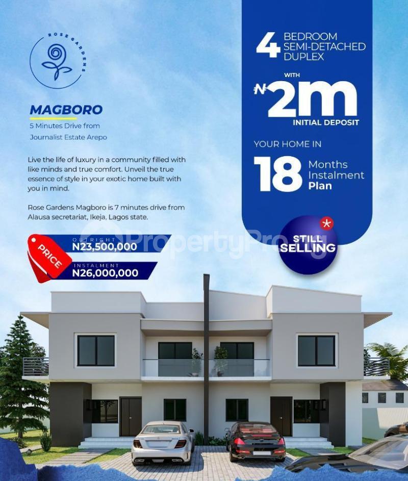 4 bedroom Semi Detached Duplex for sale Rose Garden Magboro Obafemi Owode Ogun - 0