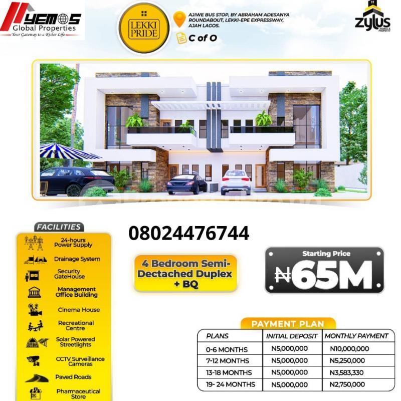 4 bedroom Semi Detached Duplex House for sale Abraham adesanya estate Ajah Lagos - 0