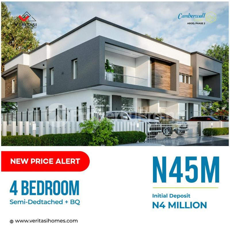 4 bedroom Semi Detached Duplex for sale 4 Minutes From Novare Mall(shoprite) Abijo Ajah Lagos - 0