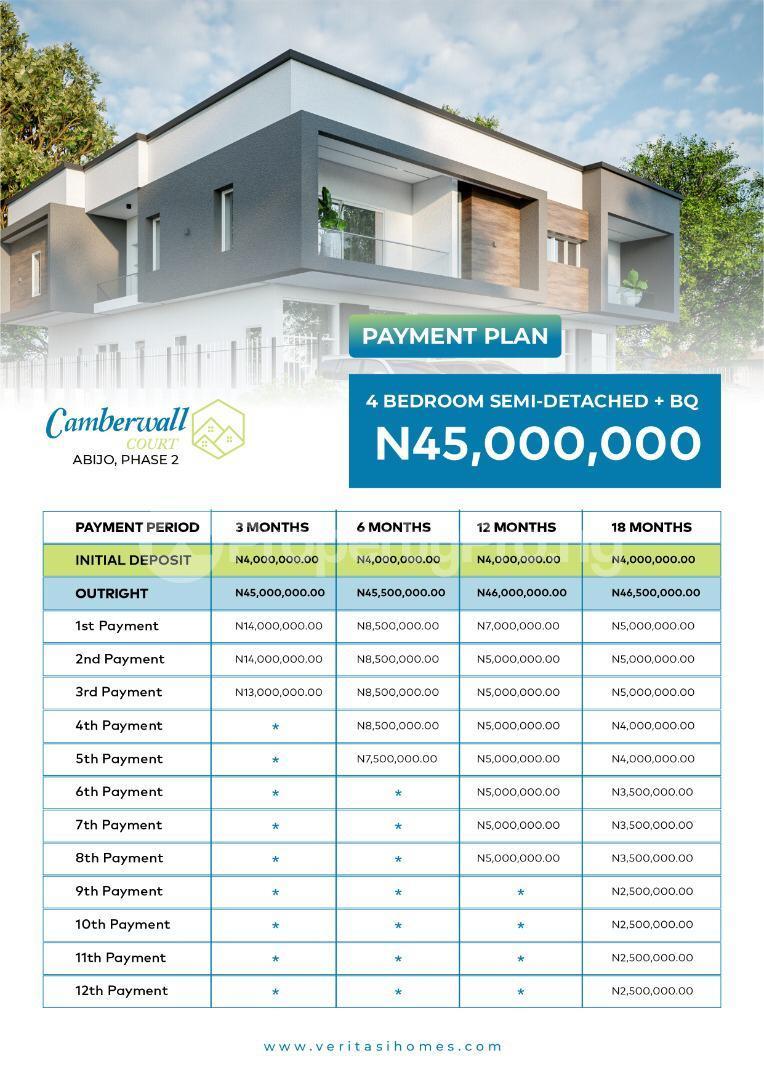 4 bedroom Semi Detached Duplex for sale 4 Minutes From Novare Mall(shoprite) Abijo Ajah Lagos - 1
