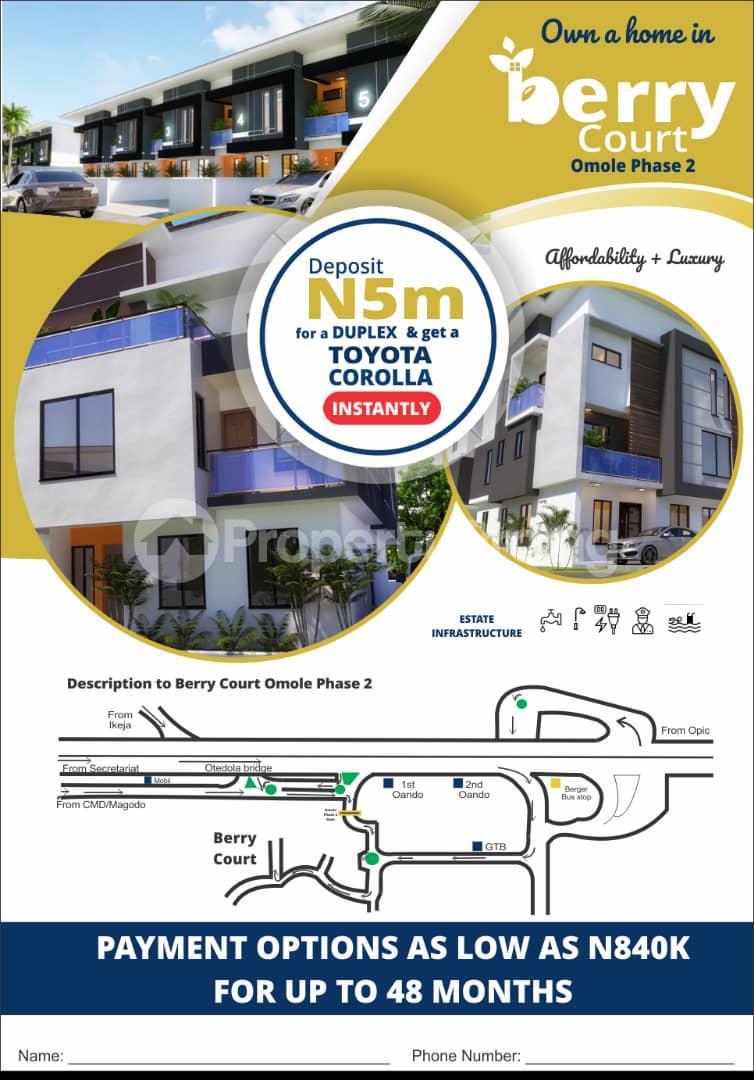 4 bedroom Semi Detached Duplex House for sale Berry Court Omole phase 2 Ojodu Lagos - 1