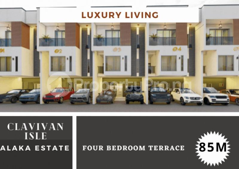 4 bedroom Terraced Duplex for sale . Alaka Estate Surulere Lagos - 0