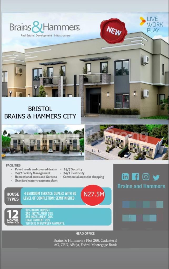 4 bedroom Terraced Duplex House for sale Brains & Hammers, Life Camp Life Camp Abuja - 0