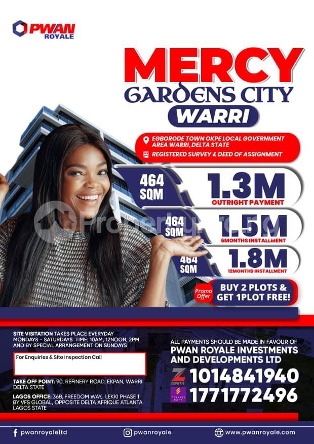 Land for sale Egborode Town Along Warri Sapele Road Warri Delta - 0