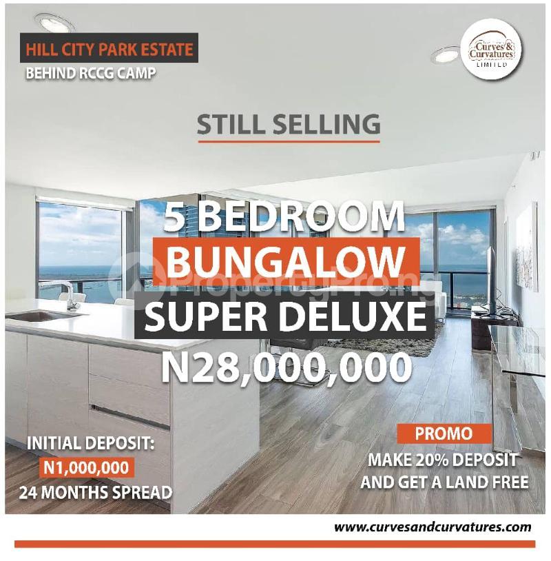 5 bedroom Detached Bungalow for sale Off Simawa Road After Rccg New Auditorium Mowe Obafemi Owode Ogun - 0