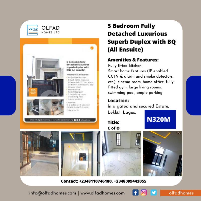 5 bedroom Detached Duplex House for sale Off Mobolaji Johnson estate road Lekki Phase 1 Lekki Lagos - 1