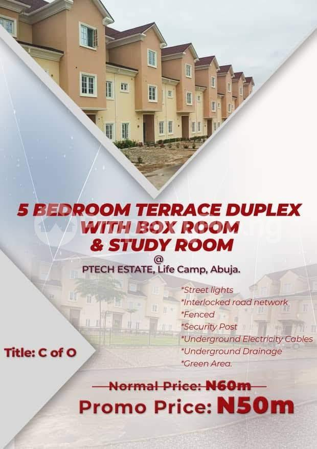 5 bedroom Terraced Duplex House for sale Close to Life Camp Police Station.  Life Camp Abuja - 0