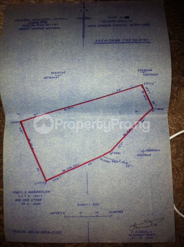 Mixed   Use Land Land for sale Housing Area A Off Port Harcourt Rd Owerri Imo - 1