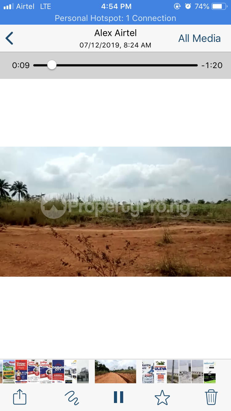 Residential Land Land for sale 15 minutes from UNIZIK temp site Isu Achala Road  Awka North Anambra - 1