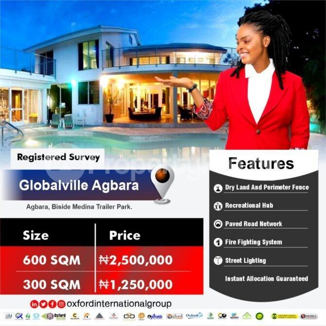 Mixed   Use Land Land for sale Beside trailer park/ Globalville  Agbara Agbara-Igbesa Ogun - 0