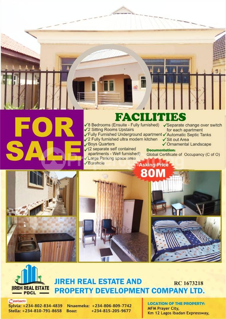 8 bedroom Semi Detached Duplex House for sale mfm prayer city, km 12 Lagos Ibadan expressway  Magboro Obafemi Owode Ogun - 0