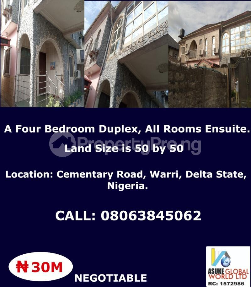 4 bedroom House for sale cementary road,Warri Delta state Nigeria Warri Delta - 0