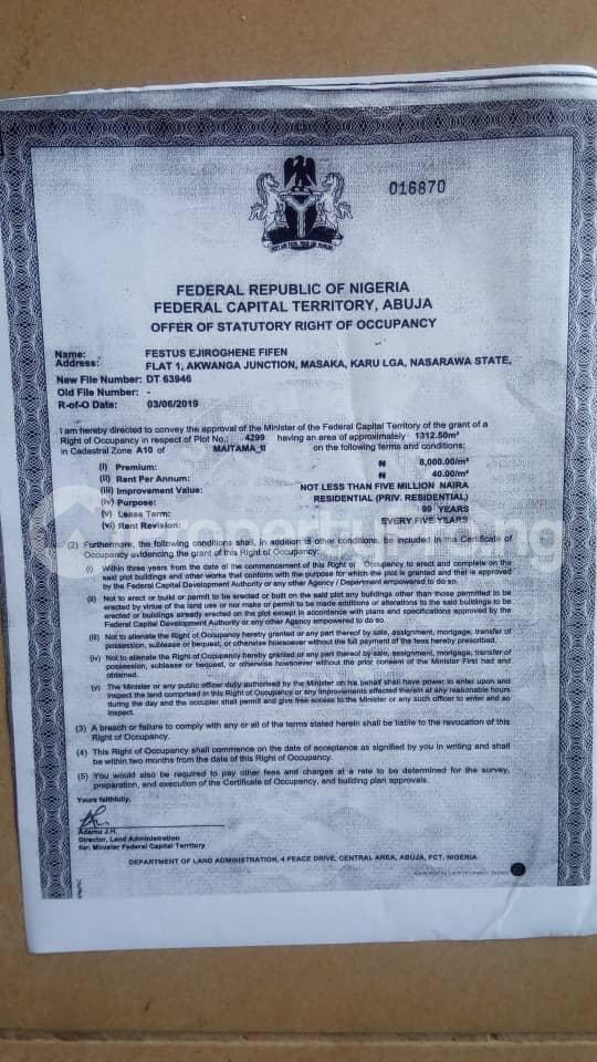 Residential Land Land for sale maitama 2 Maitama Abuja - 0