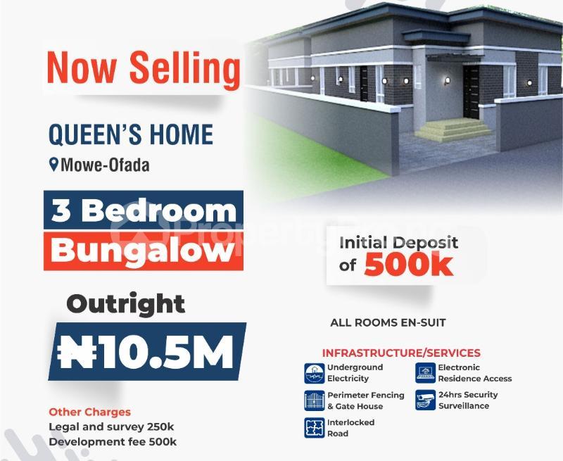 3 bedroom Shared Apartment Flat / Apartment for sale Mowe ofada,ogun state Mowe Obafemi Owode Ogun - 1