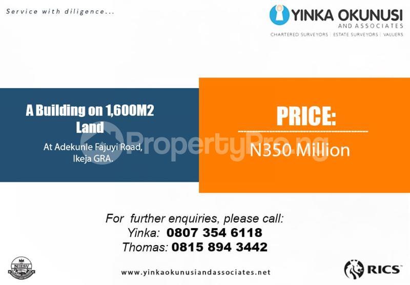 Mixed   Use Land Land for sale Adekunle Fajuyi Street Ikeja GRA Ikeja Lagos - 0