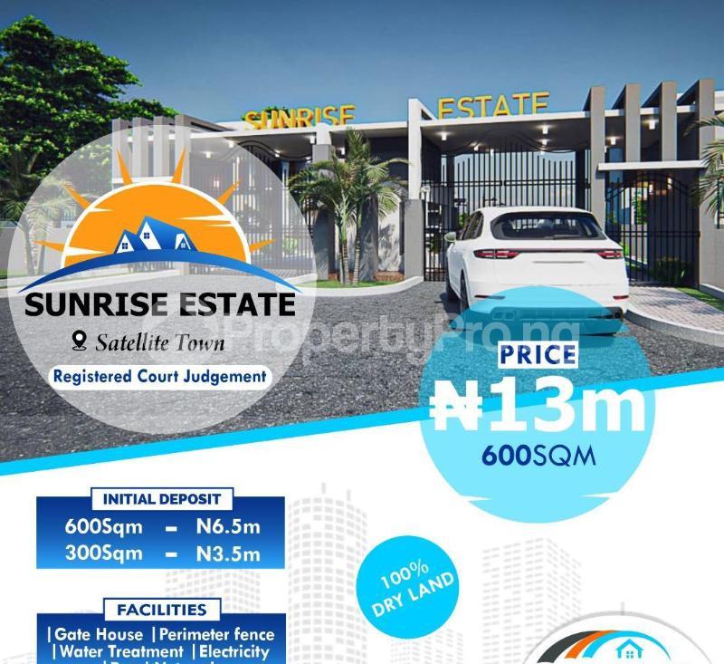 Residential Land for sale Satellite Town Festac Festac Amuwo Odofin Lagos - 1