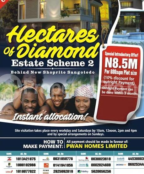 Serviced Residential Land Land for sale Behind Shoprite and few minutes to the major Express  Sangotedo Ajah Lagos - 0