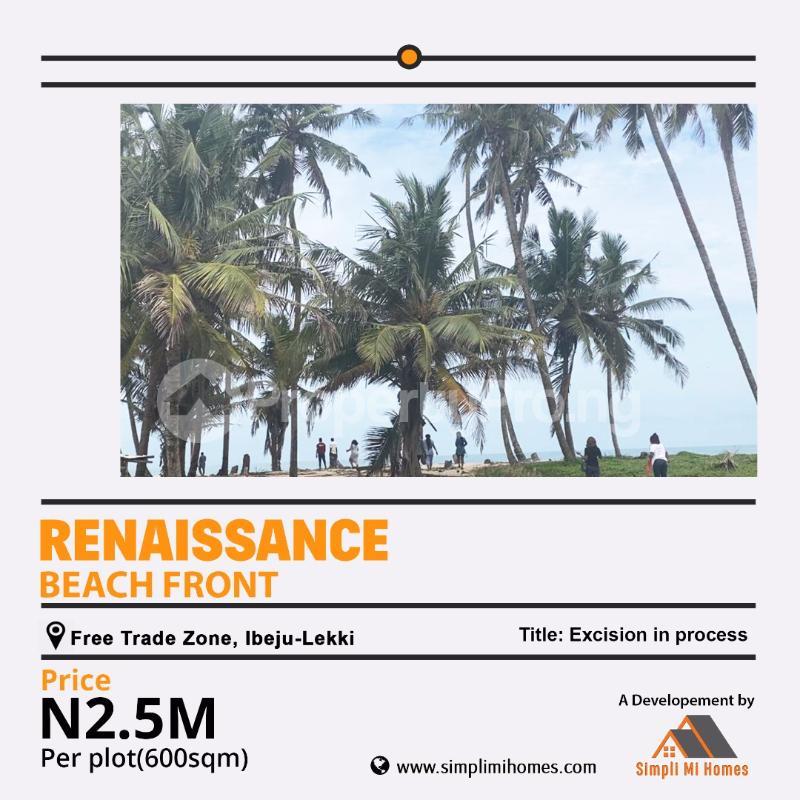 Residential Land for sale Renaissance Beach Front Free Trade Zone Ibeju Lekki Free Trade Zone Ibeju-Lekki Lagos - 0