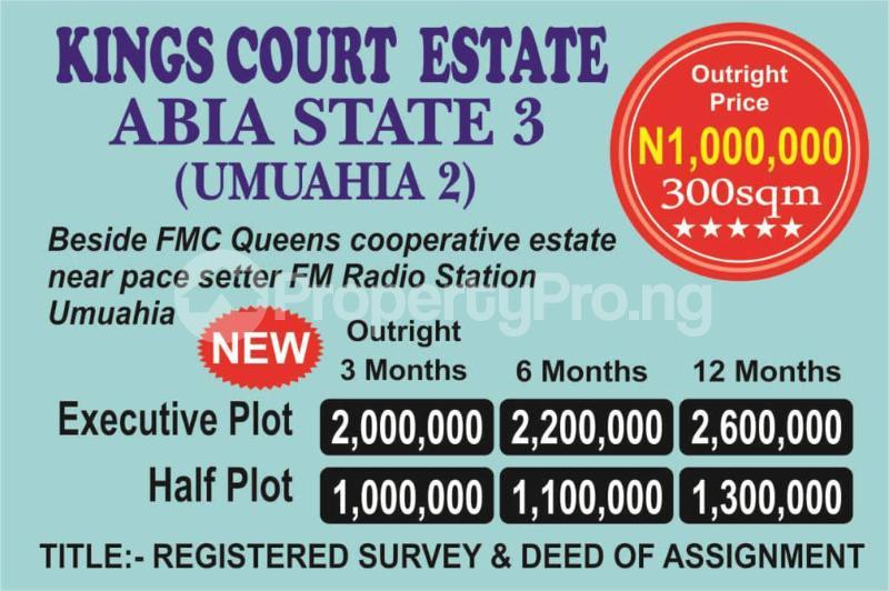 Residential Land Land for sale Beside FMC Queens Cooperative Estate, Near Pace Setter FM Radio Station, Umuahia  Umuahia South Abia - 0