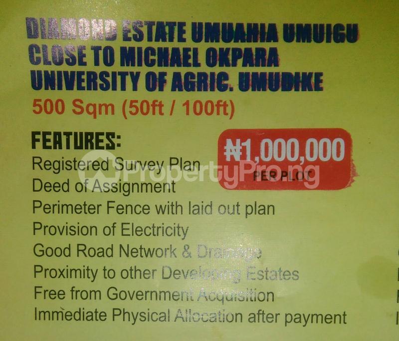 Mixed   Use Land Land for sale Diamond Estate Close To Michael Okpara University of Agriculture Umuahia South Abia - 0