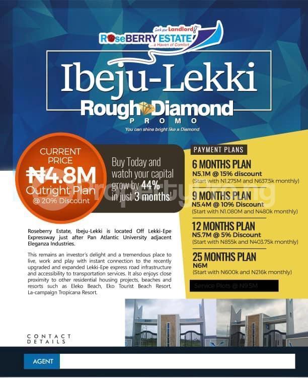 Land for sale Roseberry Estate Ibeju Lekki Ibeju-Lekki Lagos - 0