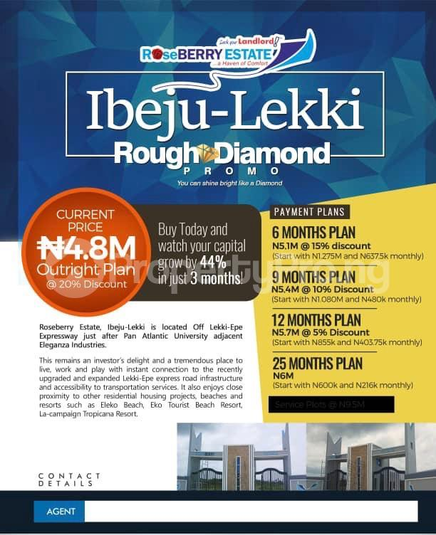 Land for sale Roseberry Estate Ibeju Lekki LaCampaigne Tropicana Ibeju-Lekki Lagos - 3