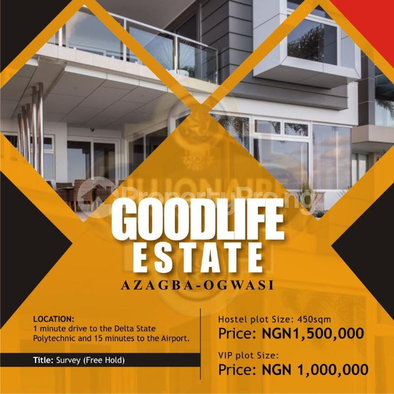 Serviced Residential Land Land for sale Azagba Ogwashi Aniocha South Delta - 0