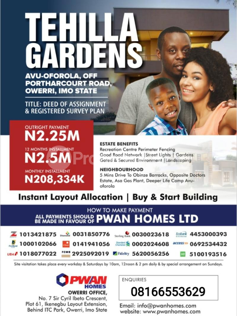 Residential Land Land for sale Owerri Imo - 0